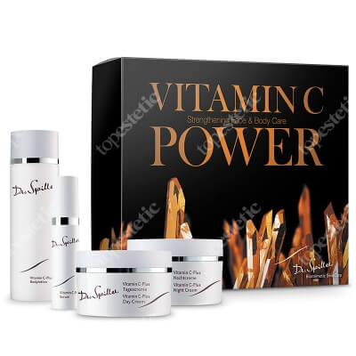 Dr Spiller Vitamin C Power ZESTAW Serum 10 ml + Krem na dzień 30 ml + Krem na noc 30 ml + Balsam do ciała 100 ml