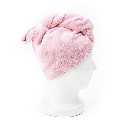 Easy Livin Turban Do Włosów OEKO - TEX Ręcznik bambusowy do osuszania włosów (kolor róż) 1 szt
