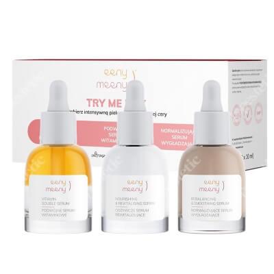 Eeny meeny Try Me Box ZESTAW Odżywcze serum rewitalizujące 10 ml + Normalizujące serum wygładzające 10 ml + Podwójne serum witaminowe 10 ml