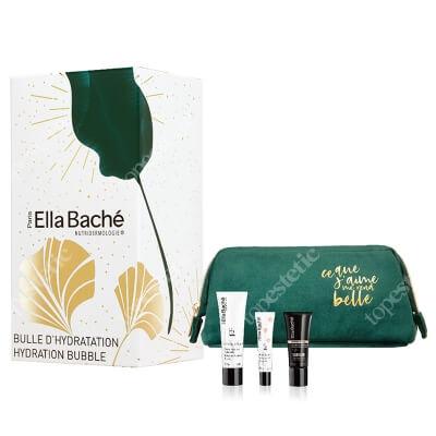 Ella Bache Hydration Bubble Gift Set 2020 ZESTAW Balsam do ust 10 ml + Serum nawilżające 15 ml + Hialuronowa maska nawilżająca 50 ml + Kosmetyczka 1 szt