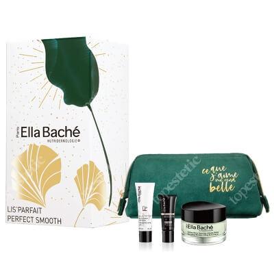 Ella Bache Perfect Smooth Gift Set 2020 ZESTAW Przeciwzmarszczkowy krem 50 ml + Pomidorowy żel pilingujący 50 ml + Serum wygładzające 15 ml + Kosmetyczka 1 szt