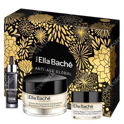 Ella Bache Skinissime Box 2019 ZESTAW Odbudowująco-upiększający krem 50 ml + Liftingująco- upiększający krem pod oczy 15 ml + Serum wygładzające 30 ml + Kosmetyczka