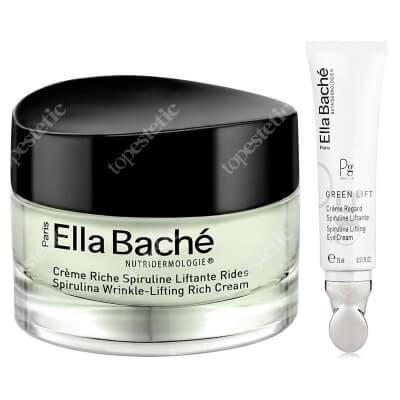 Ella Bache Spirulina Wrinkle-Lifting Rich Cream + Spirulina Lifting Eye Cream ZESTAW Bogaty przeciwzmarszczkowo - liftingujący krem ze spiruliną 50 ml + Liftingujący krem pod oczy ze spiruliną 15 ml