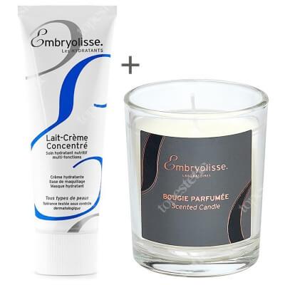 Embryolisse Iconic Gift Set ZESTAW Krem odżywczo-nawilżający 75 ml + Świeczka o kwiatowym zapachu 1 szt