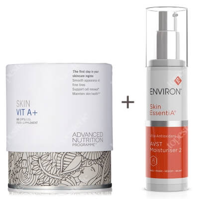 Environ AVST 2 Skin EssentiA Cream + Skin Vit A + ZESTAW Krem 50 ml + Witamina A dla zdrowej skóry oraz witamina D 60 kaps.