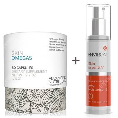 Environ AVST 5 Skin EssentiA Cream + Skin Omegas + ZESTAW Krem 50 ml + Witamina A dla zdrowej skóry oraz omega 3 i 6, 60 kaps.