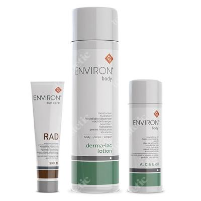 Environ Pakiet 6 - Zniszczenia posłoneczne ZESTAW Krem RAD SPF 100 ml + Olejek odżywczy o silnym działaniu 100 ml + Nawilżacz do ciała 200 ml