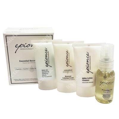 Epionce Essential Recovery Kit ZESTAW Maska 30 g + Krem kojący 30 g + Mleczko oczyszczające 30 ml + Olejek 25 ml
