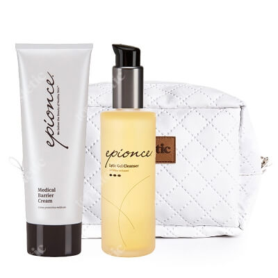 Epionce Medical Barrier + Cream Lytic Gel Cleanser ZESTAW Medyczny krem barierowy 230g + Lityczny żel oczyszczający 170 ml + Kosmetyczka