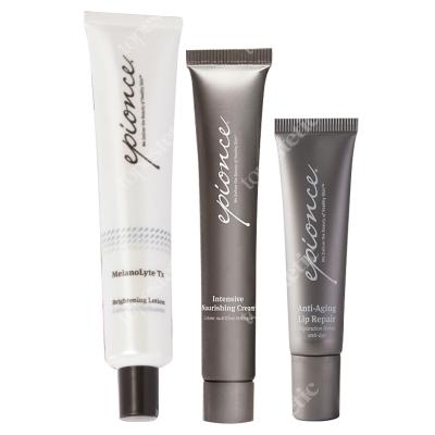 Epionce MelanoLyte Tx + Intensive Nourishing Cream + Anti-Aging Lip Repair ZESTAW Krem rozjaśniający 50 ml + Krem odżywczy 12 g + Balsam do ust 12 g