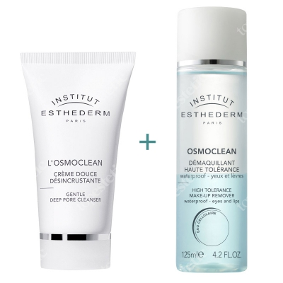 Esthederm Deep Pore Cleanser & Make-Up Remover ZESTAW Oczyszczający krem 75 ml + Płyn do demakijażu 125 ml