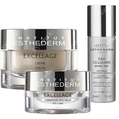 Esthederm Excellage Set + Cellular Water Mist ZESTAW Krem do skóry dojrzałej 50 ml + Krem pod oczy z wygładzającym aplikatorem 15 ml + Woda komórkowa 30 ml