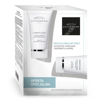 Esthederm Gentle Deep Pore Cleanser + Lightening Buffing Mask ZESTAW Głęboko oczyszczający krem 75 ml + Wygładzająca maseczka złuszczająca 75 ml