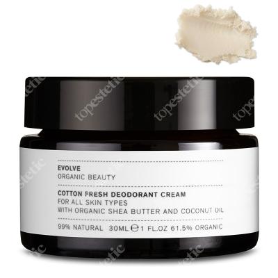 Evolve Organic Cotton Fresh Deodorant Cream Odświeżający kremowy dezodorant 30 ml