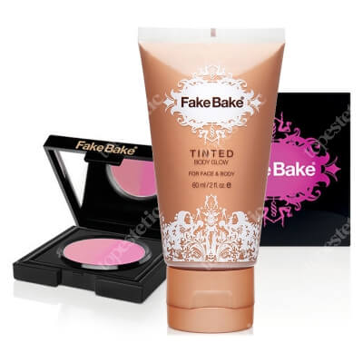 Fake Bake Tinted + Legal Sunburn Blush ZESTAW Balsam rozświetlająco-nawilżający 60 ml + Róż do policzków 3,6 g