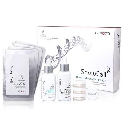 Genosys Snow Cell Brightening Kit ZESTAW Kuracja wybielająco-przeciwstarzeniowa 7 g, 50 ml, 10 ml