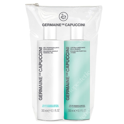 Germaine de Capuccini Balance Skin Duo ZESTAW Płyn tonizujący 300 ml + Żel oczyszczający do twarzy 300 ml