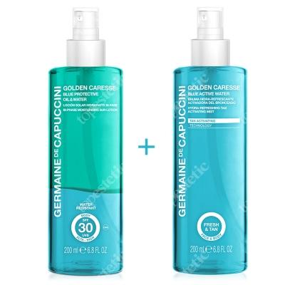 Germaine de Capuccini Blue Activ Water + Blue Protective Oil & Water ZESTAW Mgiełka nawilżająca przyspieszająca opalanie 200 ml + Dwufazowa mgiełka ochronna SPF 30 200 ml