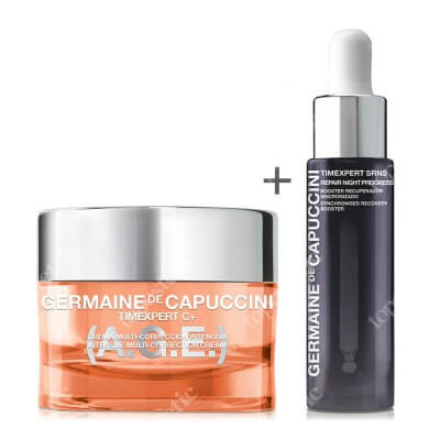 Germaine de Capuccini Intensive Multi-Correction Cream + New Repair Night Progress Serum ZESTAW Krem rewitalizujący 50 ml + Serum regenerujące 15 ml