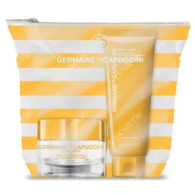 Germaine de Capuccini Royal Jelly II ZESTAW Krem do twarzy dla skóry bardzo suchej, pozbawionej komfortu 50 ml + Delikatne mleczko do demakijażu 125 ml