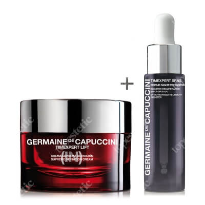 Germaine de Capuccini Supreme Definition Cream + New Repair Night Progress Serum ZESTAW Krem odżywczy, liftingujący 50 ml + Serum regenerujące 15 ml