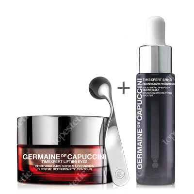 Germaine de Capuccini Supreme Definition Eye Contour + New Repair Night Progress Serum ZESTAW Krem kontur oczu 15 ml + Serum regenerujące 15 ml