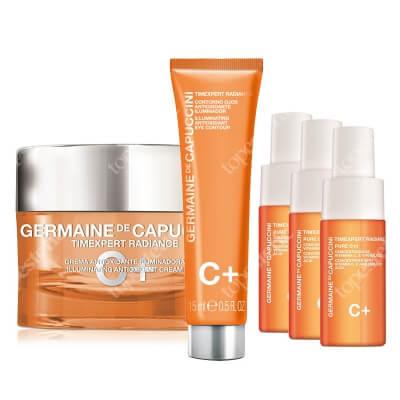 Germaine de Capuccini Timexpert Radiance C+ Launch Promo II ZESTAW Rewitalizujący krem do twarzy 50 ml + Rewitalizujący krem kontur oczu (tuba) 15 ml + Serum 3 x 10 ml