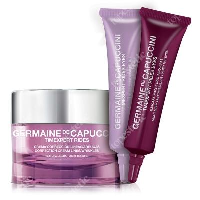 Germaine de Capuccini Timexpert Rides ZESTAW Przeciwzmarszczkowy pielęgnacja okolicy oka na dzień i na noc 2x10 ml + Krem odżywczy 50 ml
