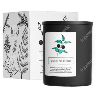 Hagi Świeca Sojowa - Boso Po Mchu Świeca na bazie ekologicznego wosku sojowego - Boso po mchu 230 g