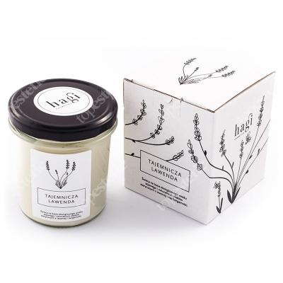 Hagi Świeca Sojowa - Tajemnicza Lawenda Świeca na bazie ekologicznego wosku sojowego - Tajemnicza Lawenda 230 g