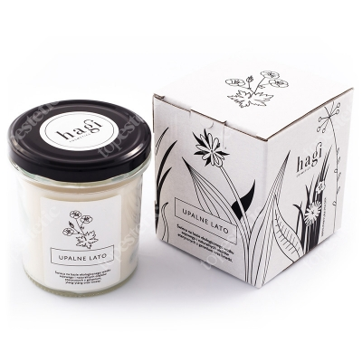 Hagi Świeca Sojowa - Upalne Lato Świeca na bazie ekologicznego wosku sojowego - Upalne Lato 230 g