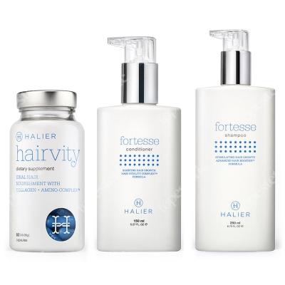 Halier Fortesse + Hairvity Set ZESTAW dla kobiet, odżywka, szampon, suplement