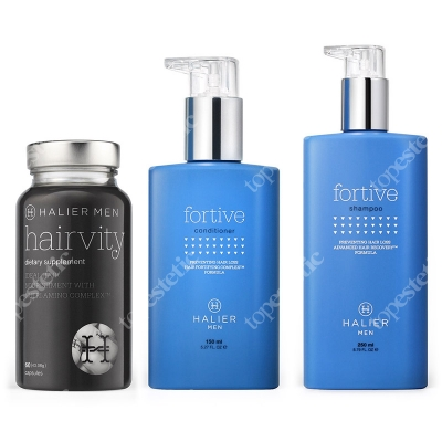 Halier Fortive + Hairvity Set ZESTAW dla mężczyzn, odżywka, szampon, suplement