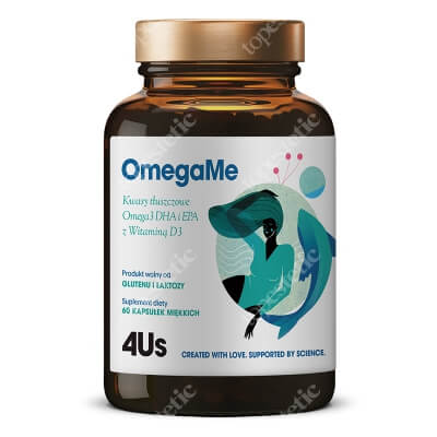 HealthLabs OmegaMe Omega3 DHA i EPA z ryb z witaminą D3, 60 kaps.