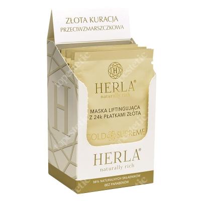 Herla 24k Face Mask Odmładzająca maska do twarzy z płatkami złota w saszetkach 10x6 ml