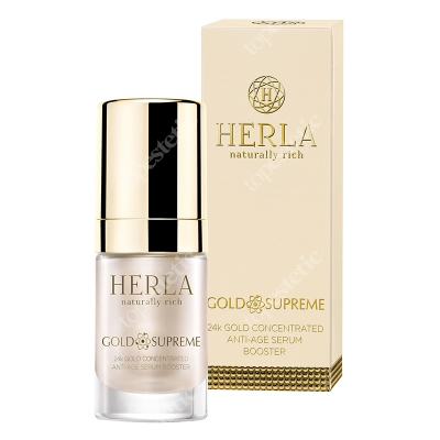 Herla 24k Gold Concentrated Anti Age Serum Booster Skoncentrowane serum odmładzające 15 ml