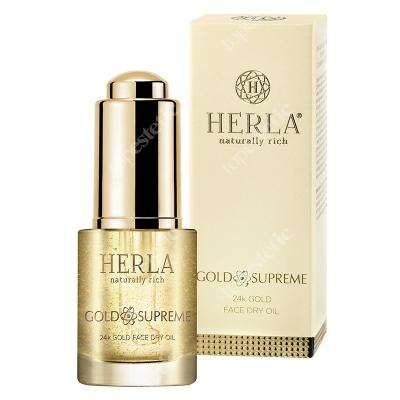 Herla 24k Gold Face Dry Oil Lfitingujący suchy olejek do twarzy z drobinkami złota 15 ml