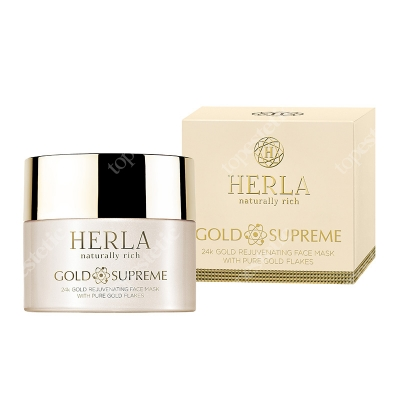 Herla 24k Gold Rejuvenating Face Mask With Pure Gold Flakes Odmładzająca maska do twarzy z płatkami złota 50 ml
