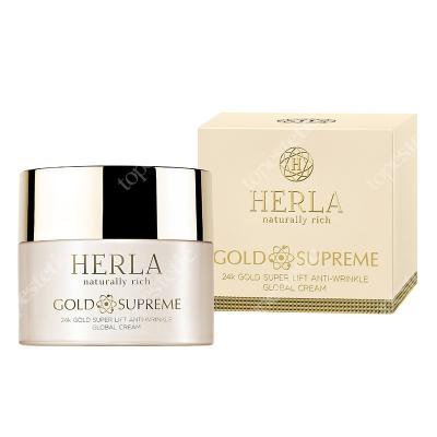 Herla 24k Gold Super Lift Anti Wrinkle Global Cream Liftingujący krem przeciwzmarszczkowy 50 ml