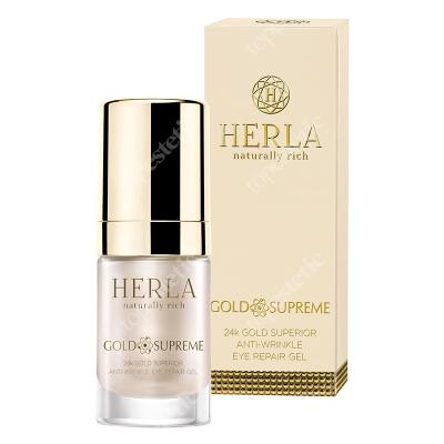 Herla 24k Gold Superior Anti Wrinkle Eye Repair Gel Przeciwzmarszczkowy żel do okolic oczu 15 ml