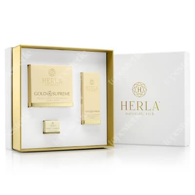 Herla Gold Supreme I 2020 ZESTAW Liftingujący krem 50 ml + Żel do okolic oczu 15 ml + Serum odmładzające 5 ml