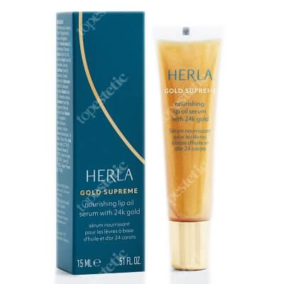Herla Nourishing Lip Oil Serum 24k Gold Odżywcze serum olejowe do ust z 24-karatowym złotem 15 ml