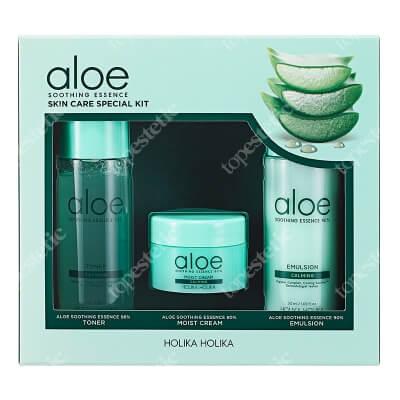 Holika Holika Aloe Soothing Essence Skin Care Special Kit ZESTAW Tonik nawilżający 50 ml + Krem nawilżający 20 ml + Emulsja nawilżająca 50 ml