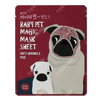 Holika Holika Baby Pet Magic Mask - Anti Wrinkle Pug Przeciwzmarszczkowa bawełniana maseczka w płachcie