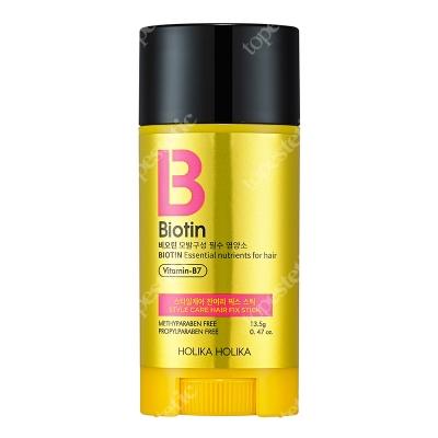 Holika Holika Biotin Style Care Fix Stick Sztyft w postaci wosku z biotyną do utrwalenia niewielkich włosków w okolicy skroni, uszu lub czoła 13,5 g