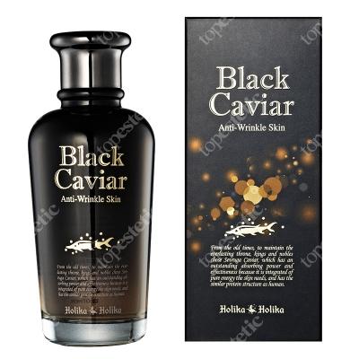 Holika Holika Black Caviar Anti Wrinkle Toner Tonik o właściwośiach przeciwzmarszczkowych z kawiorem 120 ml