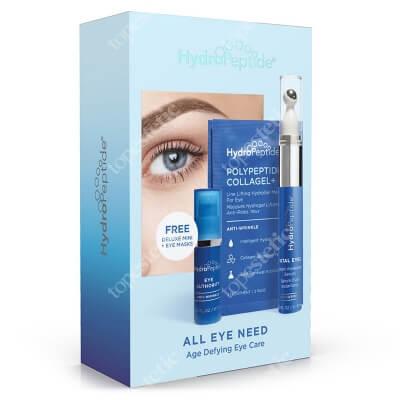 Hydropeptide All Eye Need ZESTAW Zaawansowane serum pod oczy 10 ml + Multifunkcyjny krem na kontur oka 5 ml + Maska liftingująca zmarszczki wokół oczu 2 szt.