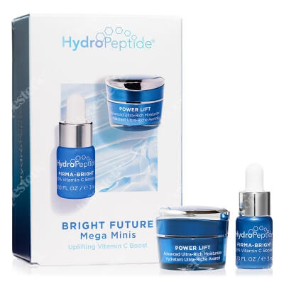Hydropeptide Bright Future Mega Minis ZESTAW Serum z witaminą C 3 ml + Intensywny, liftingujący krem nawilżający 5 ml