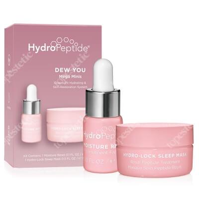 Hydropeptide Dew You Mega Minis ZESTAW Fitoodżywczy olejek do twarzy 3 ml + Królewska maska peptydowa 15 ml