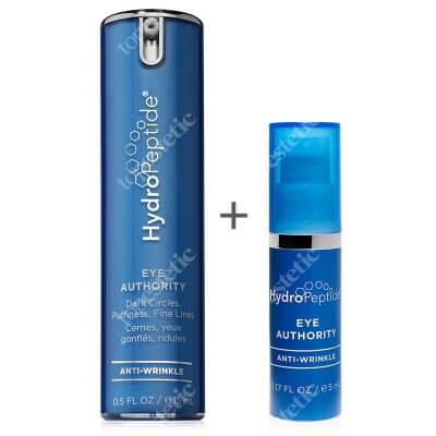 Hydropeptide Eye Authority Eye Cream + Travel Size ZESTAW Preparat do eliminacji cieni pod oczami i kurzych łapek 15 ml + 5 ml